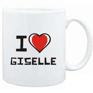 Mug White I love Giselle  Female Names: Sports