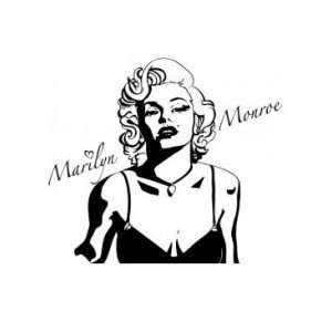 Marilyn Monroe   Wall Decal   selected color Kelly Green