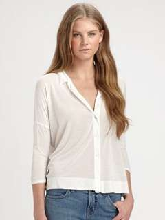 James Perse   Boxy Button Front Shirt