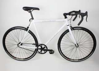 NEW 54cm Track Fixed Gear Bike Fixie Single Speed Road Bicycle   White