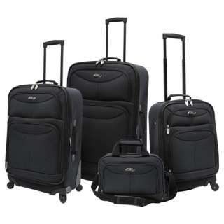 U.S. Traveler Fashion 4 Piece Spinner Luggage Set