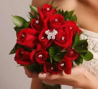 Crystal BUTTERFLY Bridal Wedding Bouquet Jewelery
