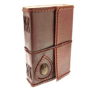 Fair Trade Handmade Extra large Stoned Leather Journal