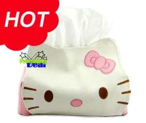 Cute Hello Kitty Tissue Kleenex Box Cover Holder Pink