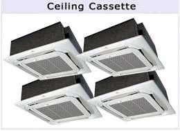 Ton QUAD ZONE Ductless CEILING Mini Split Air Conditioner 48000 BTU