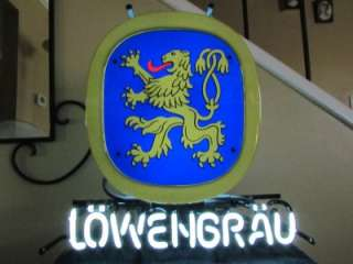 Lowenbrau Lion Emblem Logo Neon Sign Beer Bar Light NEW