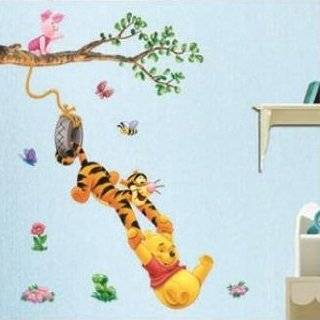 Home Decor Mural Art Wall Paper Stickers   Pooh&Game DWDS 001