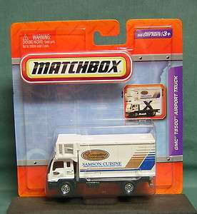 MATCHBOX 164 SCALE GMC T8500 AIRPORT TRUCK with RAISING CARGO BOX