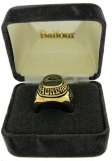 Football Offical NFL Ring Green Bay Packers Sz 10.5