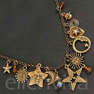 Nostalgic Cute Sun Star Moon Necklace New #ne485cp