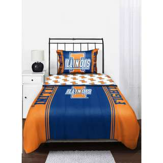 NCAA Illinois Fighting Illini Twin/Full Comforter