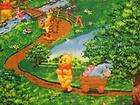 Winnie the Pooh & Friends in the Woods Fleece Fabric by the Yard