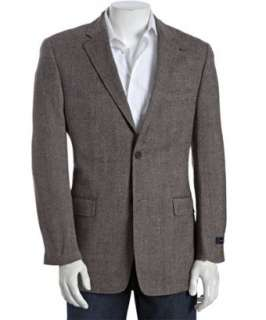 Tommy Hilfiger brown tweed wool two button Lloyd blazer   up