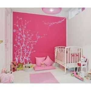 Large Wall Tree Nursery Decal Japanese Magnolia Cherry Blossom Flowers
