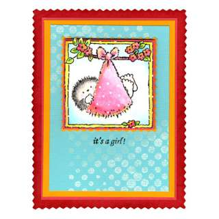 Penny Black Clear Stamps BUNDLE OF JOY Hedgy Hedgehog