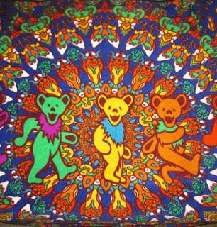 New Grateful Dead Bears Plush Fleece Blanket Retro WARM