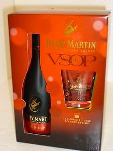 REMY MARTIN VSOP COGNAC PINT 375 ML DISCONTINUED ONE GLASS SET