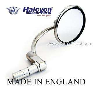 HALCYON 830 BAR END STAINLESS STEEL MOTORCYCLE MIRROR