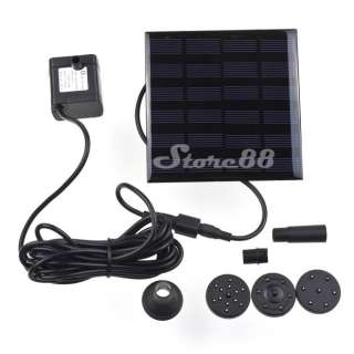 New Solar Power Fountain Pool Water Pump Garden Plants