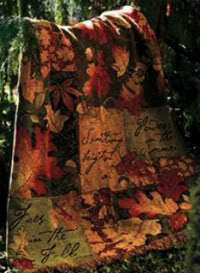 This high quality tapestry throw features a beautiful array of leaves