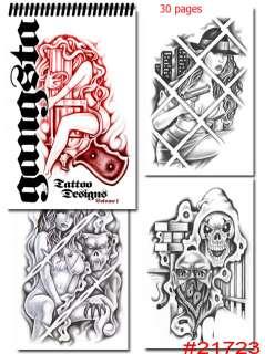 Tattoo Supplies reference book flash GANGSTER ART gangsta Loc Prison