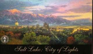 Thomas Kinkade SALT LAKE, CITY OF LIGHTS Postcard NEW