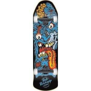Santa Cruz Roskopp Face 2 Black Skateboard   9.9x30.8 w
