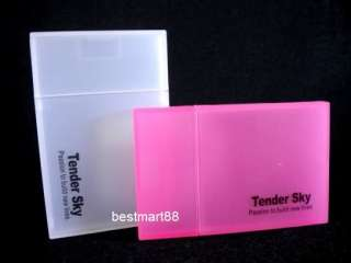 2pcs ID Business Credit Card Holder Case High Quality Plastic White