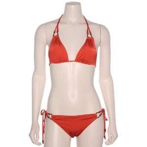 Crystal Jin Womens Dey String Tri Bikini Top