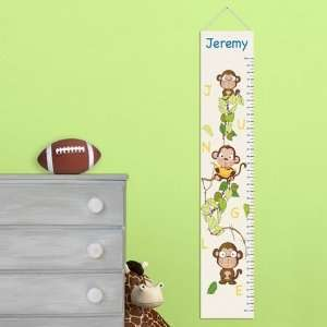 Personalized Jungle Monkeys Growth Chart Baby